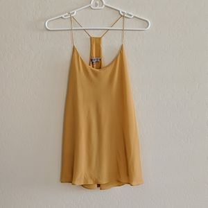 Be Cool Mustard Yellow Dressy Tank Top - Size S